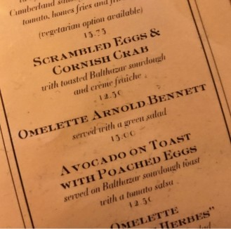 Balthazar Menu